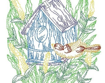 Multiline Birdhouses  ( 16 Machine Embroidery Designs from ATW )