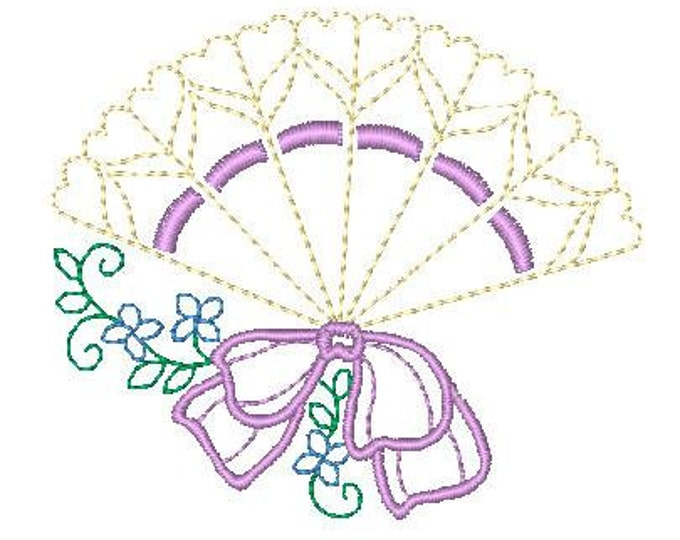 Fancy Floral Fans ( 10 Machine Embroidery Designs from ATW )