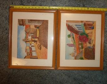 Set of two southwestern prints