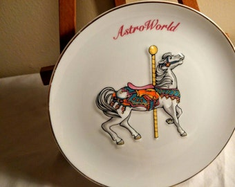 Astroworld Carousel Horse Plate