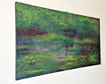 abstract huge oil painting, wall art, oil painting, unique gift idea artists Birgithell