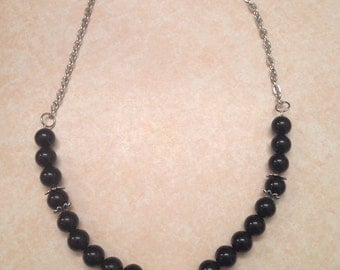 Black neclace with choice of pendant