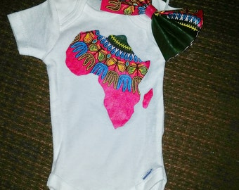 Map of Africa onesie