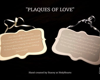 1 Corinthians 13, Love Never Fails Wooden Plaque