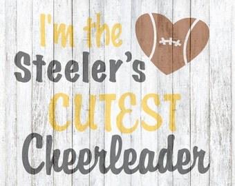 SVG Files, Steeles Cutest Cheerleader Football