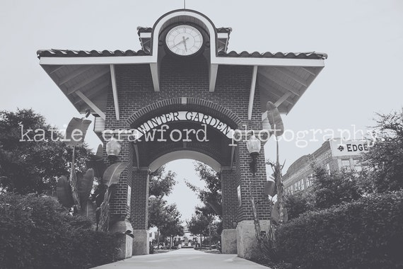 Winter Garden Florida Plant Street Western View Of Clock And