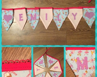 Handmade Personalised Bunting Made to Order