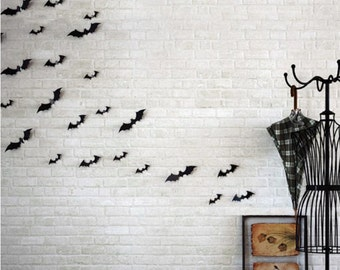 Black 3D Bat Wall Sticker