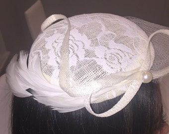 Ivory Lace Hat