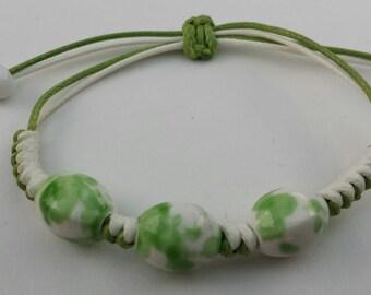 Girls Jewelry Green Adjustable Bracelet