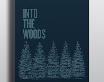 Into The Woods Minimalist Modern Graphic Movie Inspired Poster
