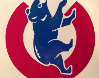 Chicago Cubs Cubby Bear sticker/decal