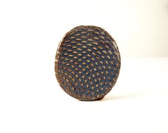 Blue Ripple Brooch