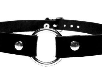 Collar O-ring 2, 4 cm leather 35-42 cm