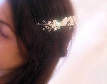 Swarovski Hair Comb,Hair Fascinator, Bridal Hair Comb, Crystal Hairpiece