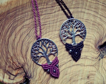 Tree of life of macrame necklace