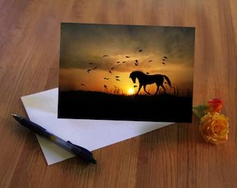 Horse Thank You Card, Pretty Thank You Card, Equine Thank You Card, Cute Thank You Card, Cute Horse Thank You Card