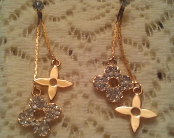 Louis v inspired earrings dangle