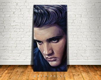 Elvis Presley Canvas High Quality Giclee Print Wall Decor Art Poster Artwork