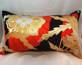 Cushion of Obi (Kimono) Japanese Silk  0000033