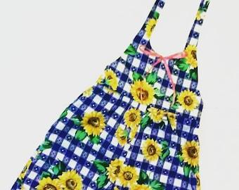 Sunflower Picnic Romper Size 3