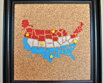 Push Pin Cork Travel Map Of The United States Wanderlust - Us travel map on cork board