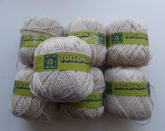Beige yarn, linen yarn, wool yarn, boucle yarn, natural yarn, Chat Botté, Toisonlin, super fine yarn, yarn lot, cheap yarn, sock yarn, baby