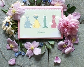 Set of Eight Fairy Tale Thank You Cards