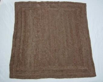 Warm knee rug, Alpaca yarn, Handspun Alpaca rug, Rose Grey alpaca