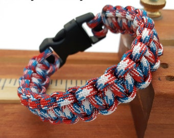 Multi/Camo Colors - Cobra Stitch 550 Paracord Survival Bracelet, Outdoor, Camping FREE SHIPPING!!