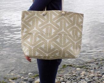 Tan Beach Tote, Large Beach Bag, Tan Beach Bag, Big Beach Bags, Beach Bag with Pockets, Beach Bag with Rope Handles, Tan Bags, Custom Bag