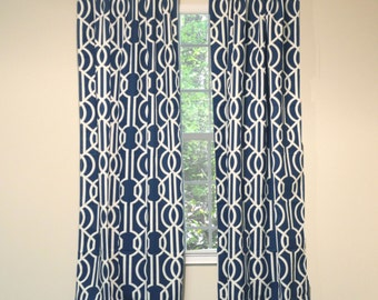 Curtain Panel Deco Navy