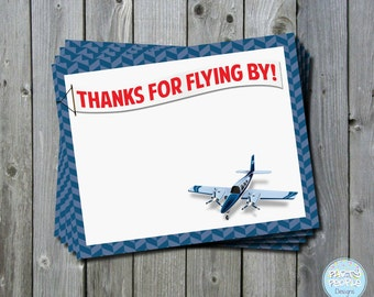 Airplane Boarding Pass Thank You Card, Airplane Birthday Thank You Card, Pilot Party Thank You Card