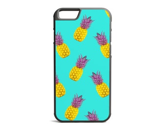 Pineapple Print, Tropical Print, Pineapple Case, Hawaiian Case, Rubber Bumper Case, iPhone Case, iPhone Cover, iPhone Bumper \ bc-pp010