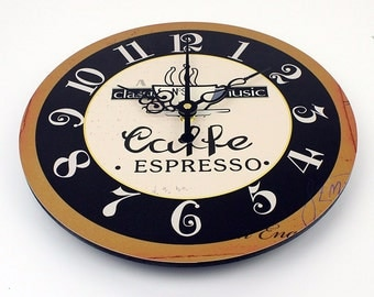 Vintage Wall Clock-Caffe Expresso