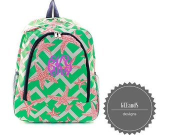 Personalized Starfish backpack- Monogrammed backpack