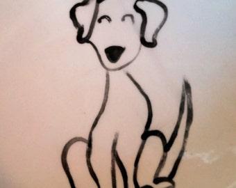 Hand Painted Ceramic Dog Bowl:  Personalized Dog Bowls!