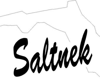 Florida Saltnek Vinyl Window Decal Sticker