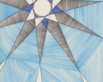 "Drawing #13 ""Blue Star"""