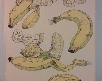 Vintage Wendy Wheeler Banana Print