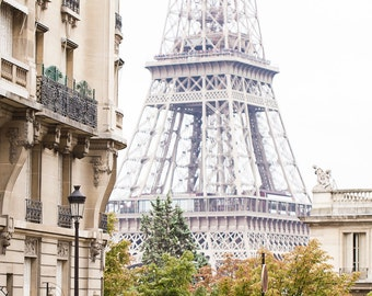 Paris Photography Stunning Parisian Street With The Eiffel Tower In The Background Wall Art