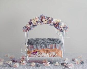 4x Digital Backdrop - Newborn floral bed (Millie)