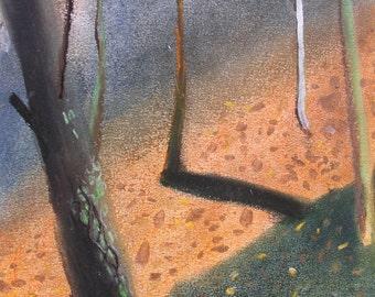 Truffle Woods 3 (2015), Original Soft Pastel Painting