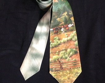 1950's Vintage Men's Tie / The Corral - Tru-Life  Photie Prints