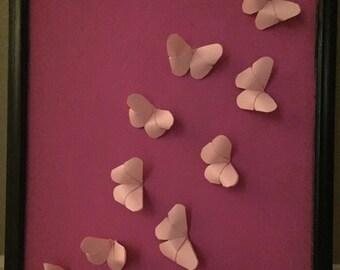 3D Butterfly Art in 18x22 Frame