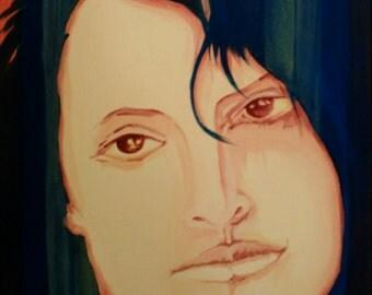 Acrylic painting, modern design, decorative painting, woman
