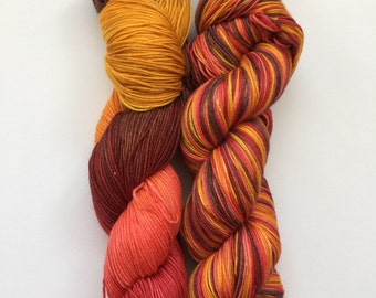 Aussie Outback Hand Dyed Sock Yarn 100g DYED TO ORDER
