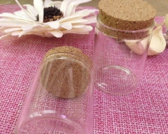 glass container with Cork
