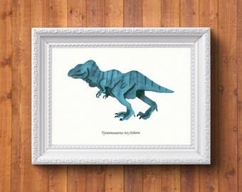 Tyrannosaurus rex Osborn (print)