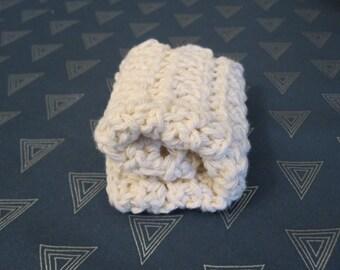 100% cotton handmade washcloth